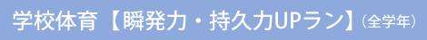 学校体育 【瞬発力・持久力UPラン】(全学年)